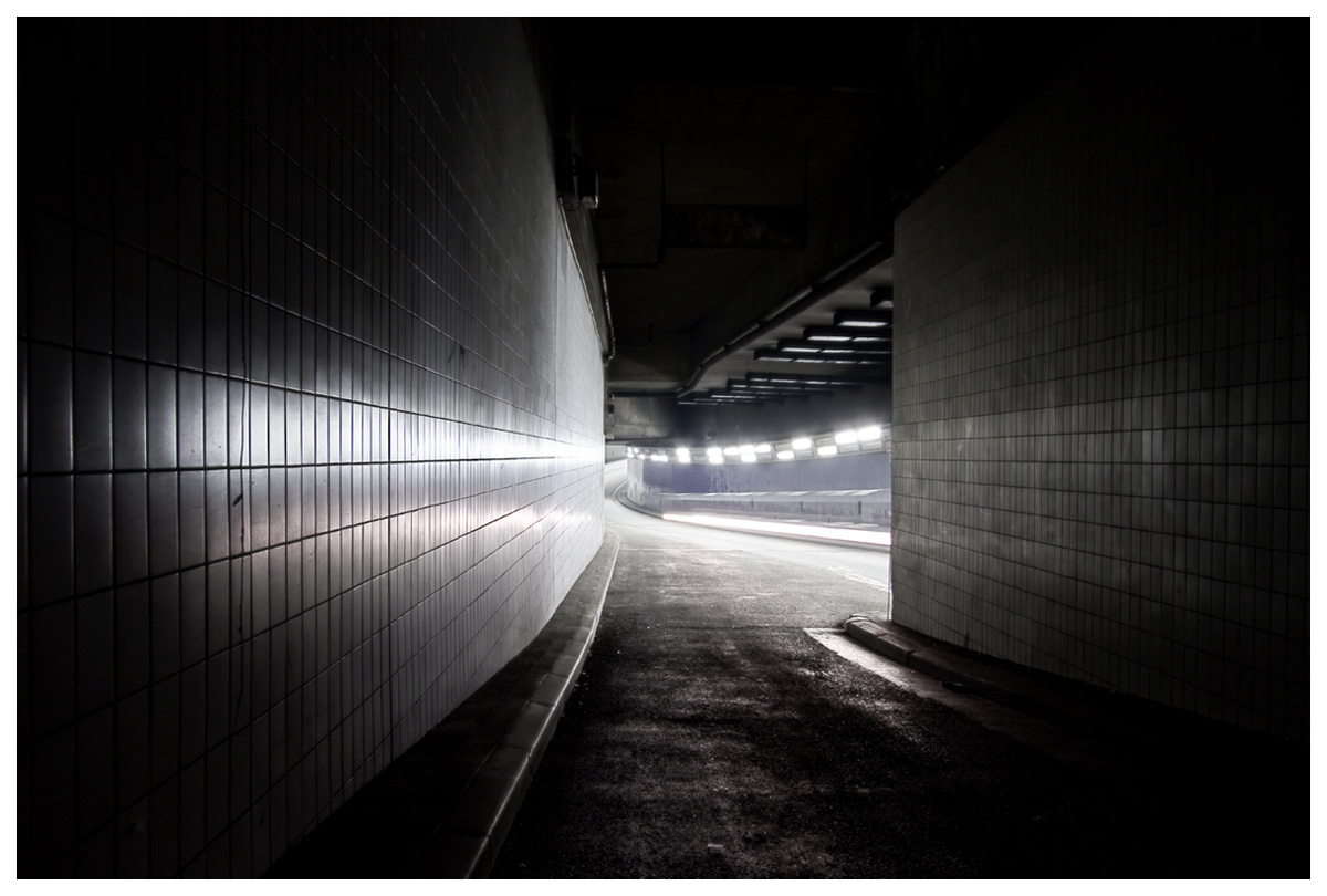 Residual light tracks urban and architecture photography
